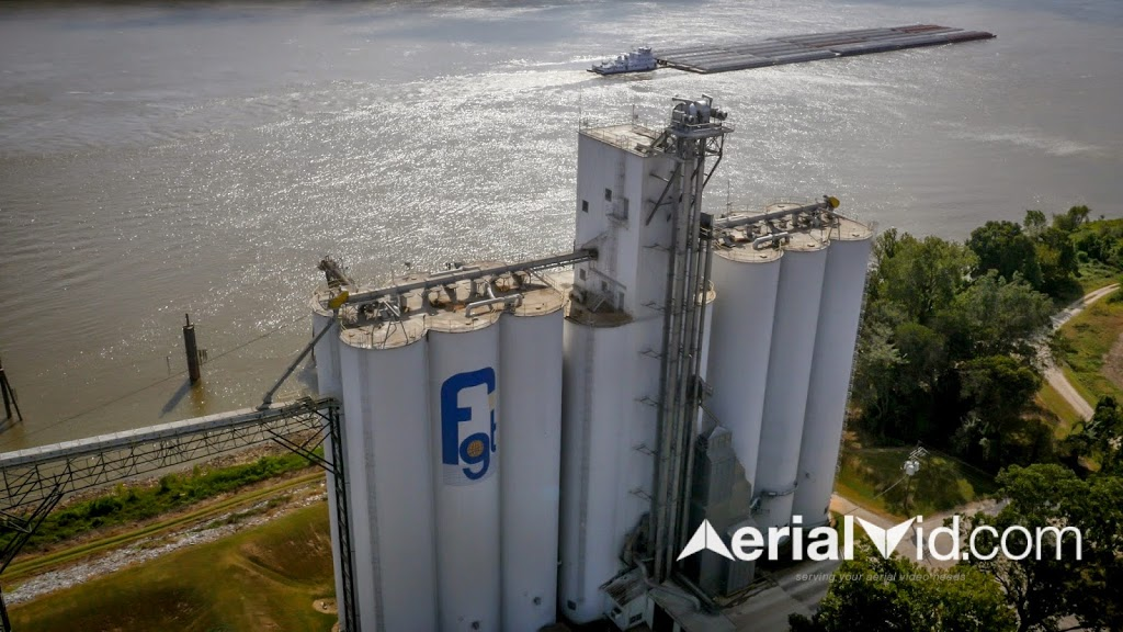 Agriculture Aerial Photography - Mississippi River