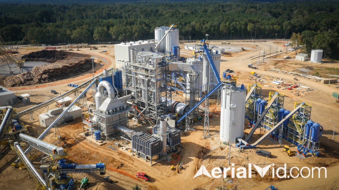 Biomass Industrial Aerial Photography
