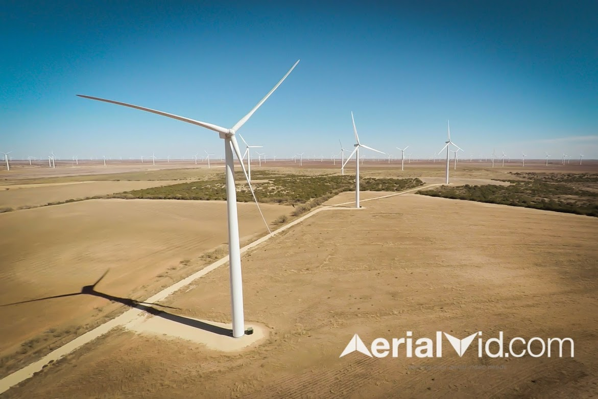 Wind Farm Aerial Photography